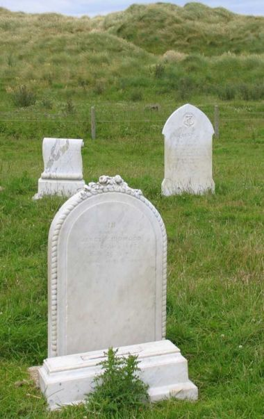 Details of the only gravestones